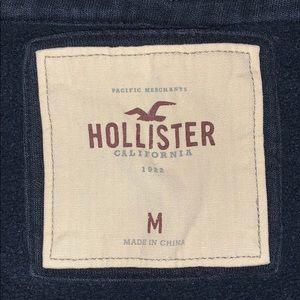 Hollister Tops - Hollister Navy Zip up Hoodie Sweatshirt